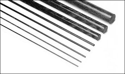 Carbon fiber pultruded rod - 10mm x 1000mm